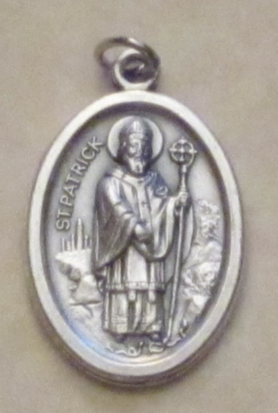 Heritage products crosses medals medallions and trade silver st patrick and st brigid this medal pays tribute to both saints with st patrick on one side and st brigid on the other 200 aloadofball Gallery